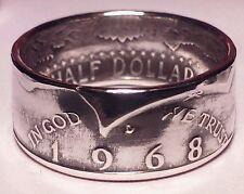 1968 size  7 - 15  silver jfk half dollar coin ring