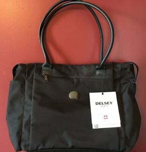 Delsey Paris Chatelet  Black Double Handle Bag Soft Carry Tote Case NWT