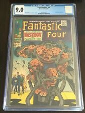 FANTASTIC FOUR #68 CGC 9.0 OW-W 1967 Lee Kirby Mad Thinker appearance Inhumans
