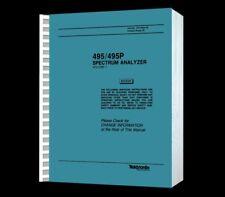 Tektronix 495 Spectrum Analyzer Hi Resolution Paper Reprinted Service VOL1+ CD