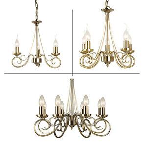 Hanging Ceiling Pendant Lights - Antique Brass & Gold Effect- Modern Indoor Lamp
