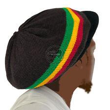 Rasta Roots Hat Berret Cap Crown Reggae Marley Jamaica Irie Rastafari M to L Fit
