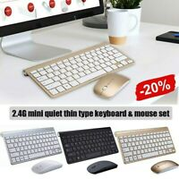 Mini Wireless Keyboard And Mouse Set Waterproof 2.4G For Mac Apple PC Computer~