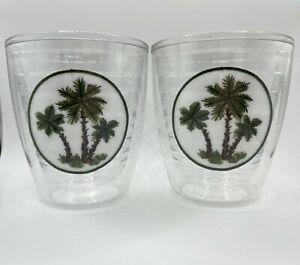 Tervis Tumblers 12 oz Palm Trees Set of 2