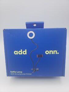 add onn Selfie Lamp + Smartphone Holder Adjustable Levels Flex Clamp BRAND NEW
