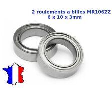 2 x roulement à billes MR106zz 6x10x3 mm Bearing ball 6 * 10 * 3 MM - 676zz