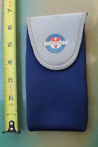 VUARNET Sunglasses Paris France 6.5in. 80's Navy Blue Neoprene Vintage CASE