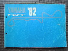 JDM YAMAHA SERVICE DATA BOOK 1982 Original Service Specifications Manual