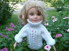 Handmade knit White Doll Sweater