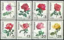 Timbres Flore Roses Bulgarie 1778/85 o lot 28694
