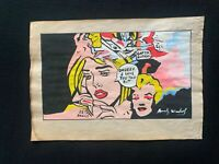 Andy Warhol watercolor drawing on paper signed and stamped mixed media