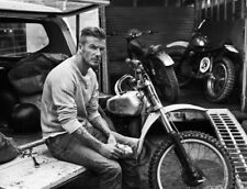 "David Beckham Black and white wall art printed on canvas Solid Frame  22"" x 16"""