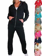 Womens Soft Fleece Back Tracksuit Set 2 Piece Hoody and Jogger Sweatsuit 10-22