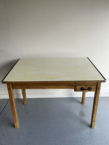 Vintage Mayline Co Wood Drafting Table With Tilt Top