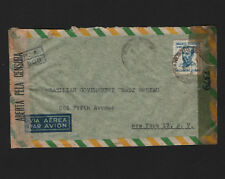 OPC 1944 Brazil Airletter to USA Double Censor 33762