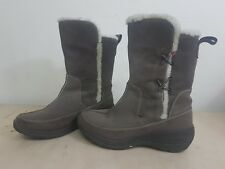 Columbia Women Canvas Winter Snow Boots Heater Brown Waterproof Size US 8 MINT!!