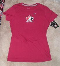 NEW TEAM CANADA Ice Hockey Maple Leaf T Shirt Women Ladies L Large NIKE NWT