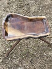 Hand carved live edge Black Walnut Bowl deco bar table natural rustic country