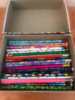 Vintage 80s 90s Pencil Lot 70+ Metallic Neon Moonbean Pentech