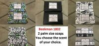 Beekman 1802 Goat Milk Soap - 2 Palm Size SOAPS  -  YOU CHOOSE YOUR SCENT.