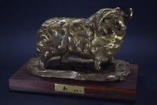 Japanese Antique Bronze Copper Sheep Statue Sculpture Okimono Ornament Signed