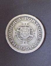 Saint Thomas & Prince - 5 Escudos 1951, Silver, KM#13 (2)