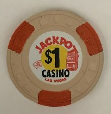 New listing Jackpot Las Vegas $1 Casino Chip Obsolete Obs Old 1971 Mint Condition