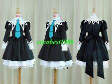 Aoi Cosplay (Miator Uniform Black) from Strawberry Panic any size dress tie