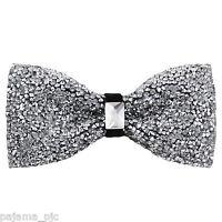 Fashion Silver Diamonds Glitters Rhinstone TUXEDO BOW TIE Bowtie Wedding Party