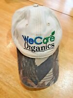 We Care organics camouflage visor baseball cap one size adult