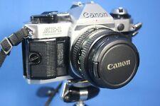 New listing Working Canon Ae-1 Program W/Fd50mm f1.8 W/Caps/Strap