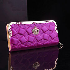 Women Ladies Fashion Wallet Card Coin Holder Long Leather Clutch Zip Purses Bags