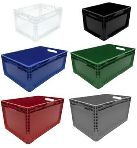 Colour Coded Euro Plastic Stacking Industrial Storage Containers Boxes Crates!