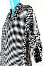 Maternity Top Si Maier Casual 3/4 Button Roll Tab Sleeves Womens SZ XL