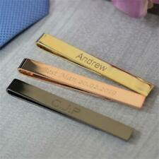 Personalised Engraved Tie Bar, Tie Clip, Tie Slide Wedding Gift