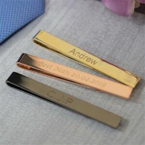 Personalised Engraved Tie Bar, Tie Clip, Tie Slide Wedding Gift