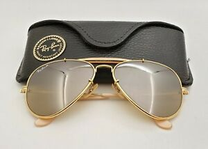 Vintage B&L Ray Ban Bausch & Lomb 58mm RB50 The General W0363 Outdoorsman w/Case