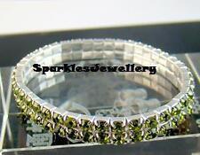 New Stunning 2 Row Crystal Rhinestone Bracelet -Brand New Br28