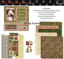 Christmas Tis The Season 12X12 Scrapbooking Kit Paper Studio Holidays NEW