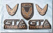 NEW 87-90 GTA Trans Am Emblem 5pc Set (RUSSETT BROWN)