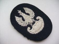 2ww polish national eagle dark blue RE/RA  cotton felt  beret patch variation