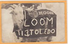 Real Photo Postcard RPPC Goat Order of Moose Toldeo OH