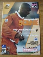 31/10/1995 Blackpool v Bristol Rovers  (Item in very good condition, no obvious