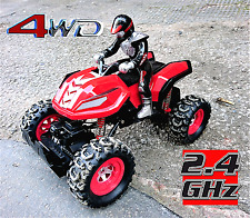 Remote Off Road Quad Bike ATV 4WD Rally Car 1:12 Scale Channel RC 2.4 GHz Radio
