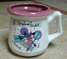 OPRYLAND USA  Nashville Tennessee Music Guitar Banjo Theme Ceramic Coffee Mug