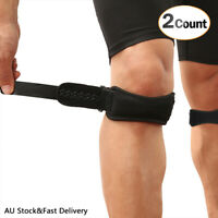 AGPTEK 2Pcs Adjustable Knee Braces Support Patella Knee Strap with Silicone Pad