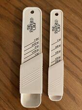 The Pampered Chef Adjustable Slide Measuring Spoons - set of 2