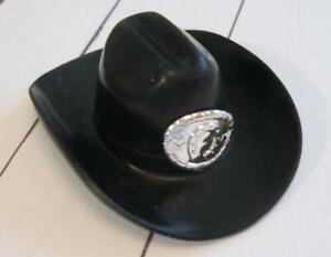 1990s WESTERN STAMPIN BARBIE KEN Doll CLOTHES: BLACK buckle 10-GALLON COWBOY HAT