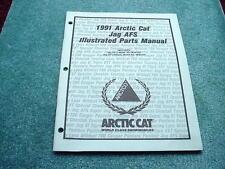 Arctic Cat 1991 Parts Manual Jag AFS + Deluxe Snowmobile OEM #280