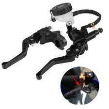 "7/8"" 22mm Universal Motorcycle Brake Master Cylinder Hydraulic Clutch Levers Kit"